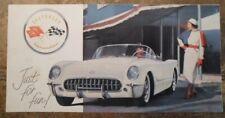 CHEVROLET CORVETTE original 1956 USA Mkt Sales Brochure - NOT a reprint