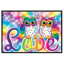 Colorful owl love diy 5d diamond painting embroidery cross stitch home decorEP