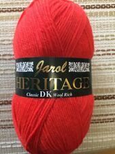 Jarol Heritage DK Yarn 100g Ball X 6 Shade 151 Red