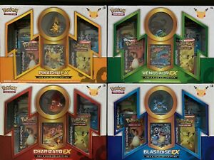 Pokemon 20th Anniversary Red & Blue Generation EX Collection complete set of 4