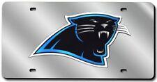 Carolina Panthers Silver Laser Cut License Plate