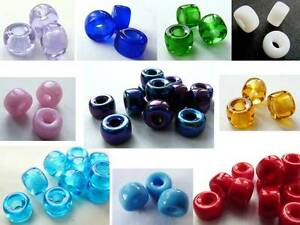 9(mm) LARGE HOLE EUROPEAN STYLE CZECH GLASS PONY CROW SPACER ROUND BEADS