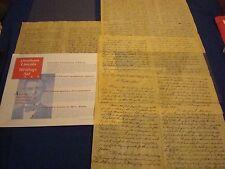 Abraham Lincoln Writings, 2 pg Emancipation Proclamation, Gettysburg,  Replica