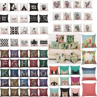 Home Sofa Decor Cushion Cover Plant Parrot Throw Pillowcase Pillow Covers Case