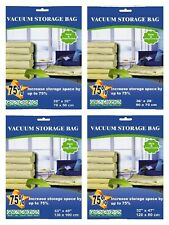 8 PACK - Combo Large+XL+Jumbo+Super Jumbo Vacuum Seal Storage Space Saver Bags