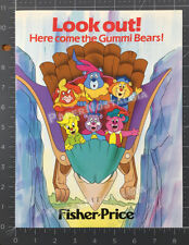 Adv. of the GUMMI BEARS__Orig. 1986 Trade promo_8pg booklet__Disney_Fisher Price