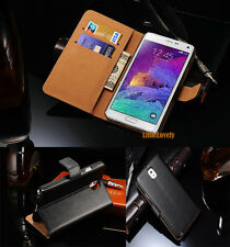 Genuine Leather Wallet Cover for Samsung Galaxy Note 8 4 5 S 8 7 6 5 Edge Case