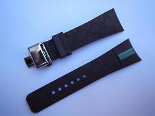 26mm BLACK, Watch rubber Band strap + CLASP ,fits for i guc YA114207 . YA114