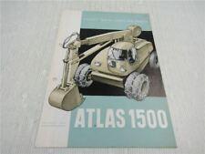 Prospekt Atlas 1500 Bagger Lader 1956