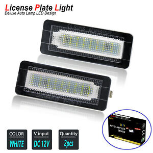 LED License Plate Lights Cool White Bulbs Replacement for 2004-2019 Smart Fortwo