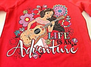 DISNEY ELENA AVALOR SIZE 6X BRAND NEW W/TAGS GIRLS S/S RED COTTON BLEND T-SHIRT