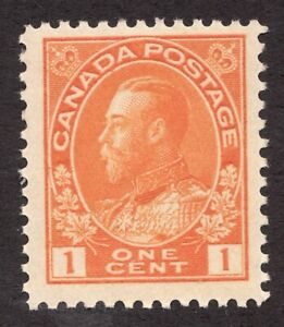 #105 - Canada - 1c - 1922 - Admiral -  MLH -  F+ - superfleas - est$25
