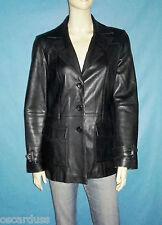 blouson veste REDSKINS cuir d'agneau noir taille M ou 38 fr