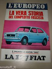 L'EUROPEO=1971/13=FIAT 127=JACQUES NOBECOURT=GUSTAV THOENI=NINO BENVENUTI=