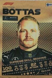 Topps Formula 1 Turbo Attax 2021 SUPREME SKILL Valtteri BOTTAS Gold Card #245