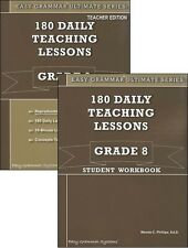 Easy Grammar Ultimate Series: 180 Daily Teaching Lessons Grade 8 SET of 2  NEW