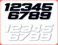 Numéros CROSS ONE INDUSTRIES PHAT Hauteur 18cm BLANC N° 9 WHITE   3 pcs
