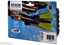 Epson T5846 original pack photo encre + 150 pack papier PM240 PM280