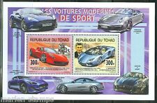 CHAD 2014  FERRARI & LAMBORGHINI CAR COLLECTIVE SHEET OF TWO MINT NH
