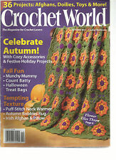 CROCHET WORLD  OCTOBER, 2011  ( 36 PROJECTS : AFGHANS, DOLIES, TOYS & MORE )
