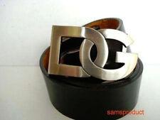 Famous DG Silver Color Belt Buckle +  Belt