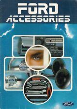 Ford Accessories 1982-83 UK Market Brochure Fiesta Escort Sierra Capri Granada
