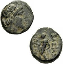 Antiochos III der Große Seleukiden AE Antiochia Apollon Pfeil Bogen SC 1055
