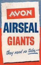 Avon Airseal Giant Truck Tyres 1957-58 UK Market Foldout Sales Brochure
