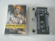 STEVE EARLE & THE DUKES SHUT UP AND DIE LIKE AN AVIATOR CASSETTE TAPE MCA (1991)