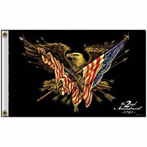 2nd Amendment FLAG 3x5 Eagle USA Shall Not Infringe Firearm Banner America 1791