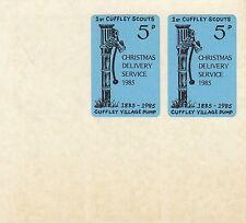 (84404) GB Cuffley SCOUTS Natale 1985 servizio di consegna 2 x 5p valori