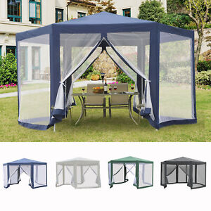 Hexagonal Metal Netting Gazebo Patio Outdoor Canopy Party Activity Event Marquee