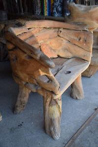 Sessel Teakholz Sessel Garten Terrasse Unikat 18.040
