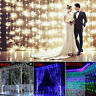 3Mx3M /6Mx4M 600LED String Fairy Lights Net Mesh Curtain Chrismas Wedding Party
