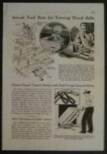 Ball Turner for Wood Lathe 1936 HowTo build PLANS Swivel Tool Post