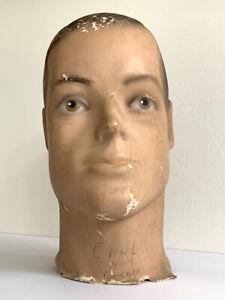 VINTAGE Male MANNEQUIN HEAD  Mid-Century Modern Chicago