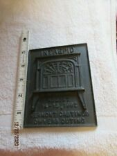 1982 Vermont Castings Intrepid Owners Outing Cast Iron Plaque Paperweight Adv