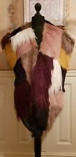 River Island Faux Fur Multi Patchwork Oversized Scarf BNWT
