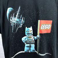 LEGO Batman 3 Beyond Gotham T-Shirt Black Double Sided Size Large