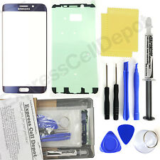 Blue Samsung Galaxy S6 Edge+ Plus G928 Replacement Front Screen Glass Repair Kit