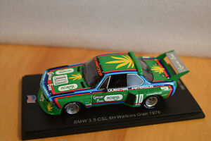 Spark 1/43 BMW 3.5 CSL #10 6hr Watkins Glen 1976 Peterson & Quester (US110)
