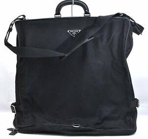 Authentic PRADA Nylon Garment Cover Black A3074