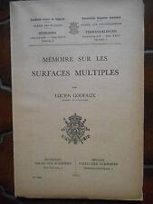L. Godeaux : Mémoire sur les surfaces multiples