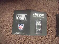 2016 New York Jets (National Football League) Bud Light series pocket schedule