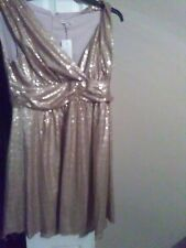 gold sequin party dress size XL low cut in front