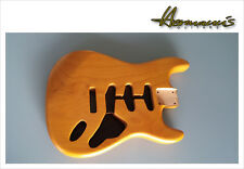 Stratocaster body, 2 piece Alder Body, aliso body, Finish aged nature satén