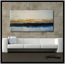 ABSTRACT CANVAS PAINTING MODERN WALL ART 48in. Large Listed by Artist ELOISExxx