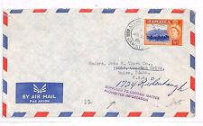GG33 1961 JAMAICA Air Prohibited Importation Explanatory USA Idaho Cover PTS