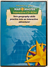 Prentice Hall MAP MASTER Interactive CD-ROM Software Geography Learning School