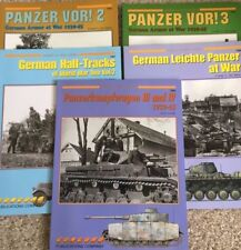 Concord WWII German Panzer soft cover books, multi-list, multiple titles